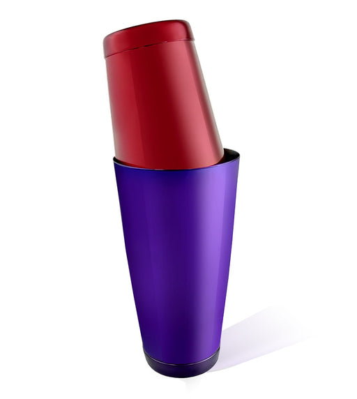 BarConic® Cocktail Shaker Set - 28oz / 18oz  Weighted Tins - Candy Purple / Red