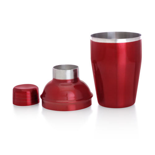 BarConic® Candy Red, 12 ounce 3-Piece Cocktail Shaker