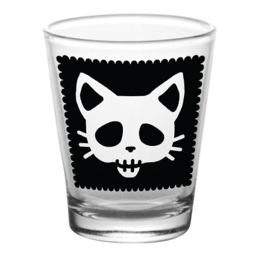 1.75 oz Shot Glass- Cutsey Skulls - Kitty
