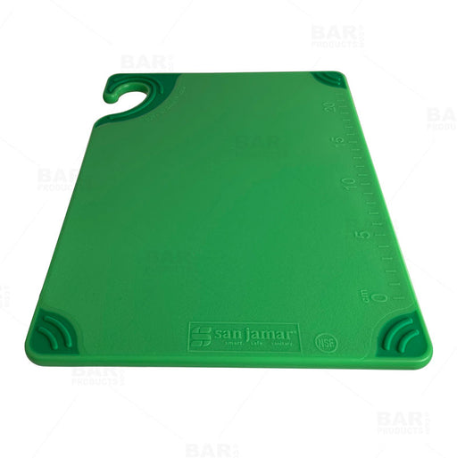 San Jamar Saf-T-Grip X-Pediter Cutting Board, 9 x 12 x 3/8 in, NSF, Green