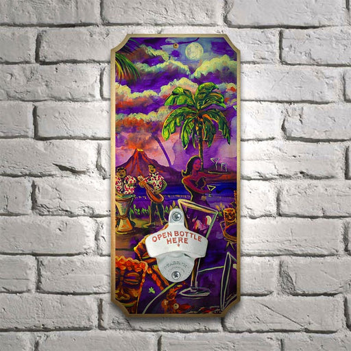 Tiki Drink Drink - Wood Plaque Wall Mounted Bottle Opener