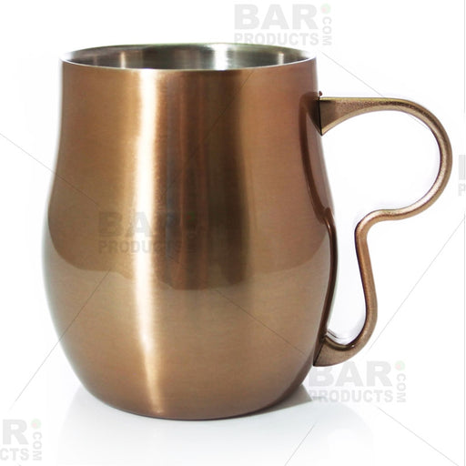 Double Wall Mug - Brushed Burnt Copper / Stainless Steel - 17oz / 500ml