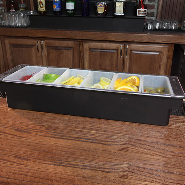 Condiment Holder / Fruit Tray - 6 Pint w/ Flat Lid - Color Options