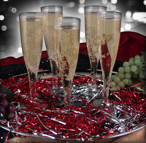 Champagne Flutes - Plastic - Set of 10