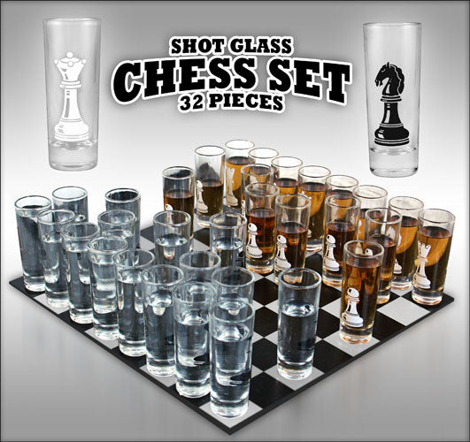 Shot Glass Chess Set - 32 piece