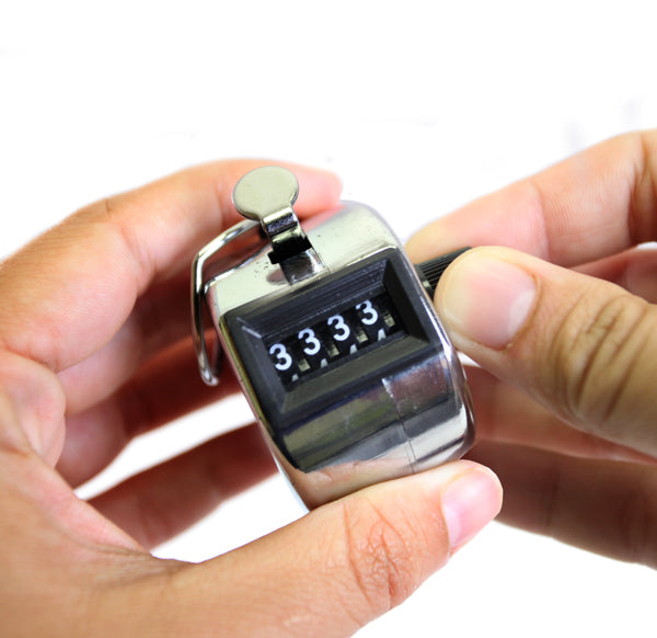 Chrome Hand Tally Counter