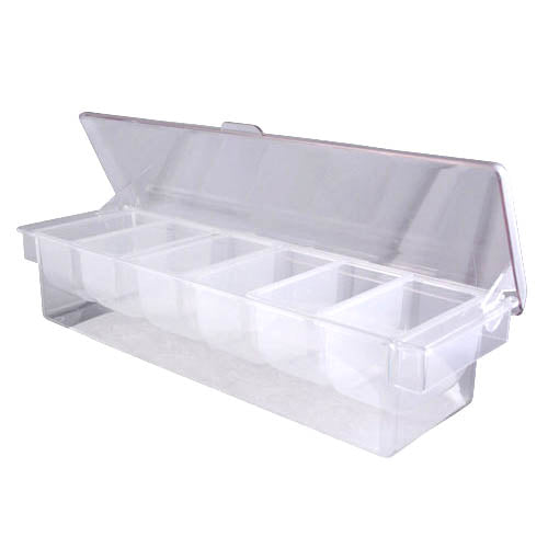 Garnish Tray - Clear Acrylic with Ice Compartment