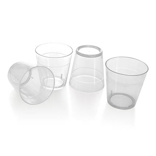 Barconic 1.5oz Clear Plastic Shot Glasses