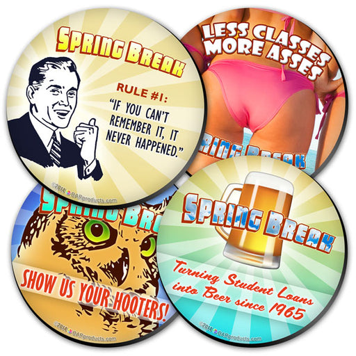 Spring Break Foam Kolorcoat™ Coasters - 4 inch Round
