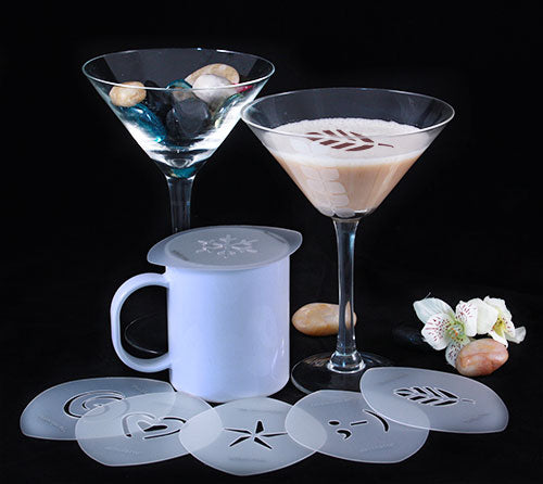 Cocktail / Cappuccino Stencils - Set of 6