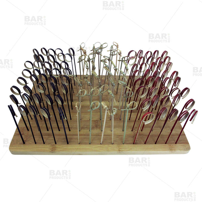 BarConic® Bamboo Cocktail Pick Display - 120 hole