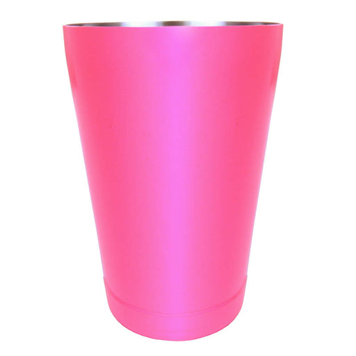 cocktail shaker tin - neon pink - 18 ounce