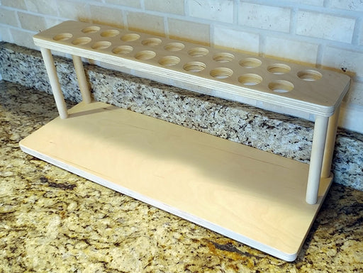 "Counter Caddies™ - NATURAL - 24"" STRAIGHT Shelf w/ K-Cup Holes"