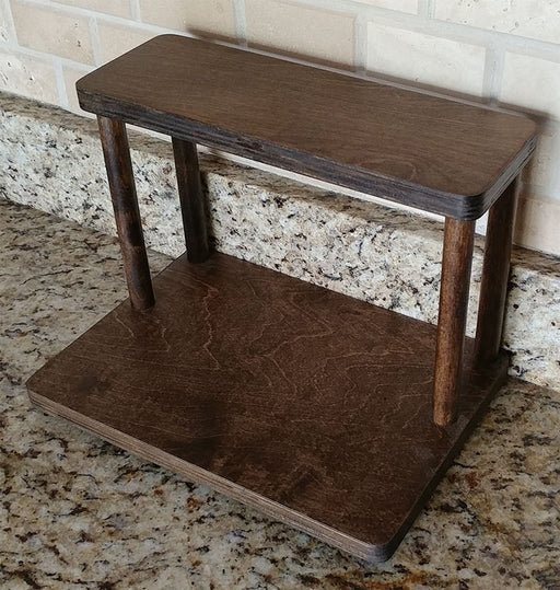 "Counter Caddies™ - STAINED Finish - 12"" STRAIGHT - Barista"
