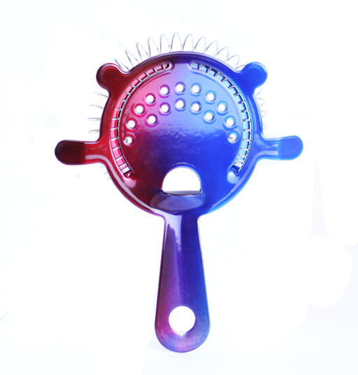 Blue and Red Color Fusion 4 Prong Strainer