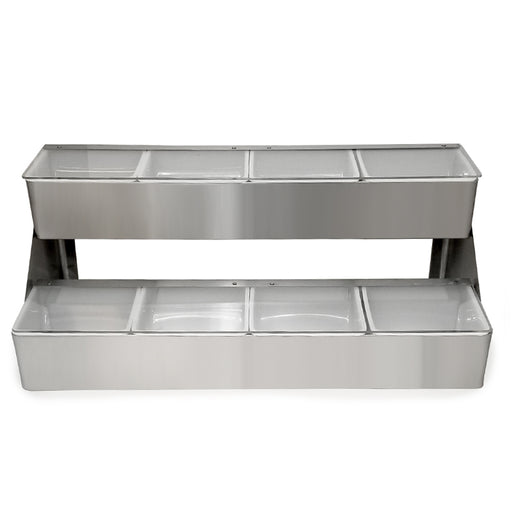 BarConic® Stainless Steel Double Decker Condiment Holder