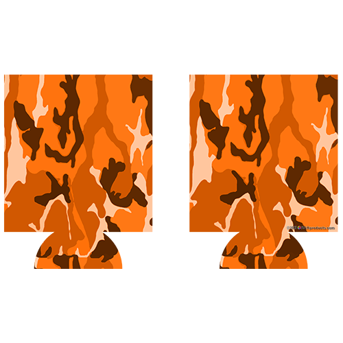 Kolorcoat™ Can Cooler (2 Pack) - Orange Camo