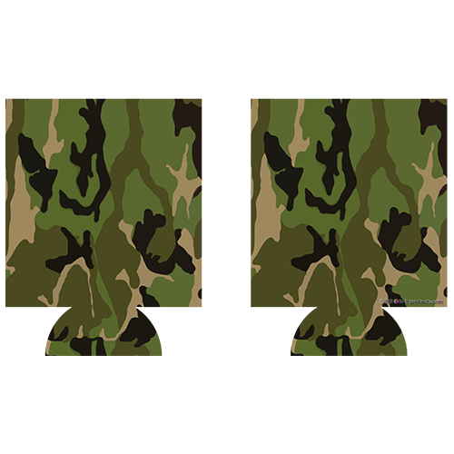 Kolorcoat™ Can Cooler (2 Pack) - Green Camo