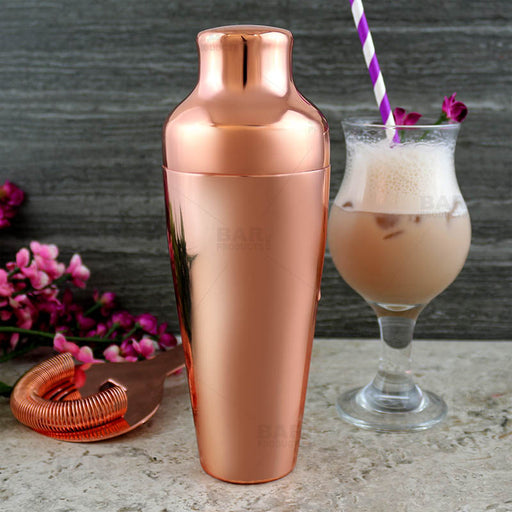 Olea™ Parisian Style 2 Piece Cocktail Shaker - Copper Plated - 20 ounce