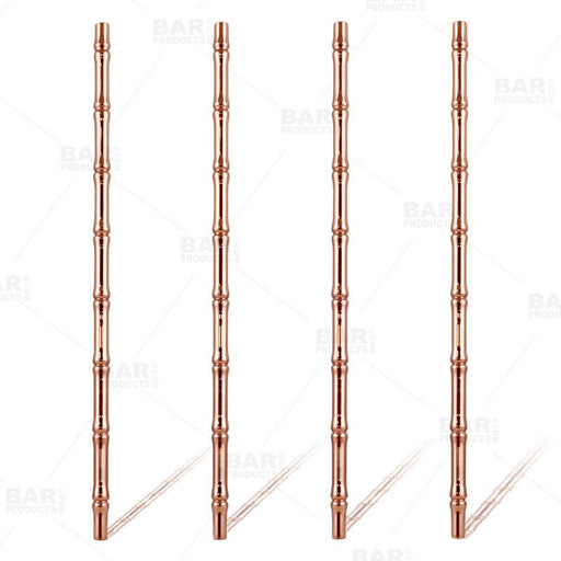 Copper Plated Bamboo Straws - 4 Pack