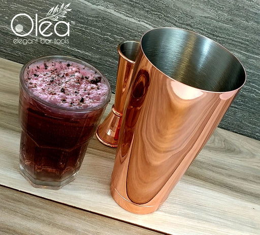 Olea™ Cocktail Shaker - Copper Plated - 28oz Weighted