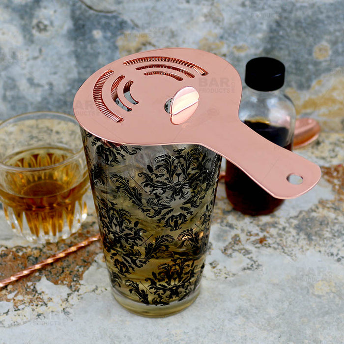Olea™ Hawthorne Cocktail Strainer - Copper Plated