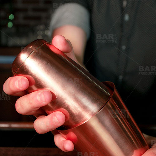 BarConic® Cocktail Shaker - Copper Plated - 16oz Weighted