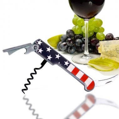 Corkscrew / Wine Opener - USA Flag