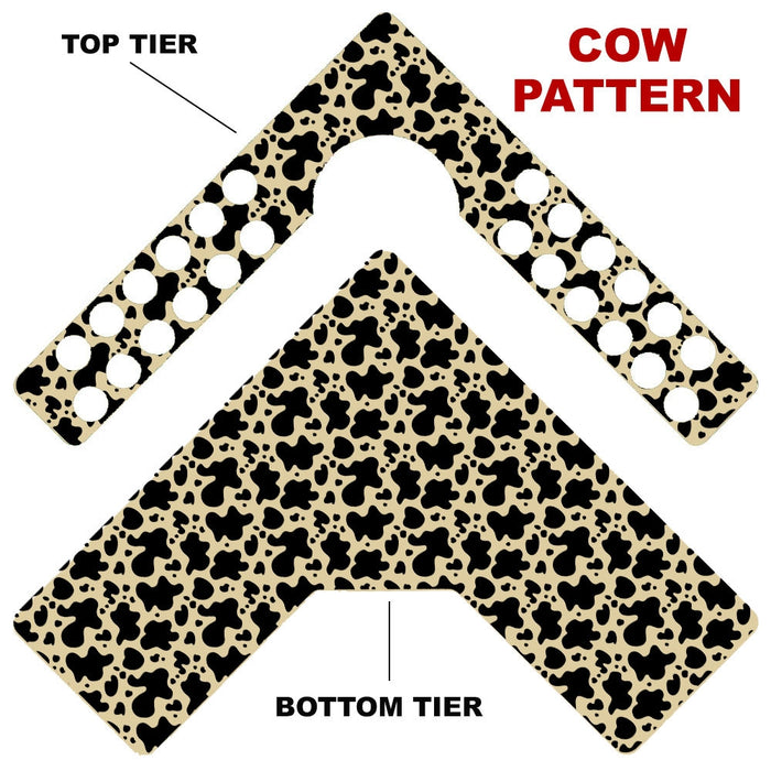 CHOOSE YOUR PATTERN - Counter Caddies™ - Corner Unit w/ K-Cup Holes and Trash Can Inset