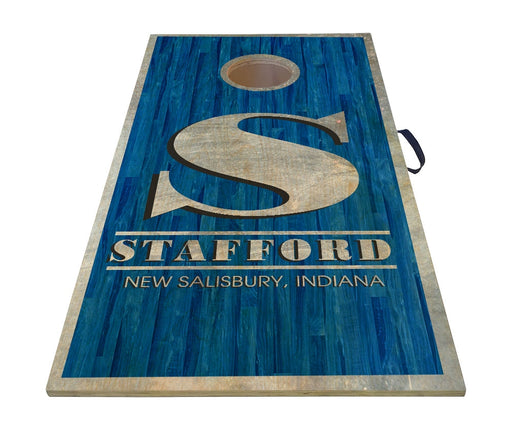 "CUSTOMIZABLE Cornhole Game Boards - BLUE WOOD PLANKS - 22"" x 44"""