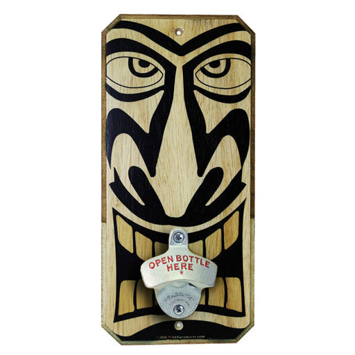 TIKI (Corona) - Wall Mounted Wood Plaque Bottle Opener