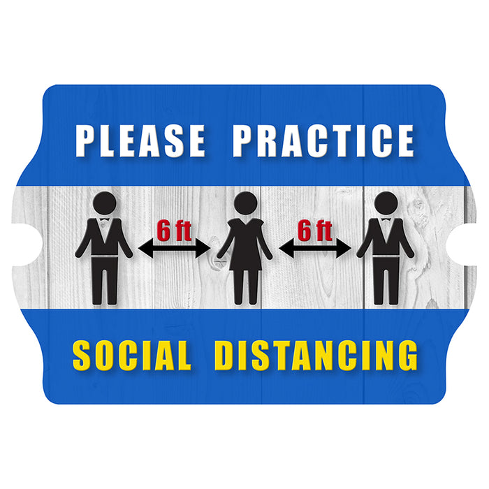 Wooden Tavern Sign - Social Distancing