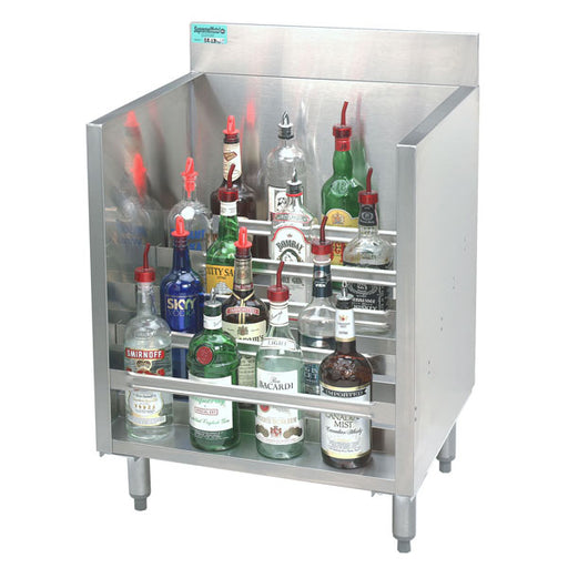 Liquor Display Rack - locking cover - 2' deep