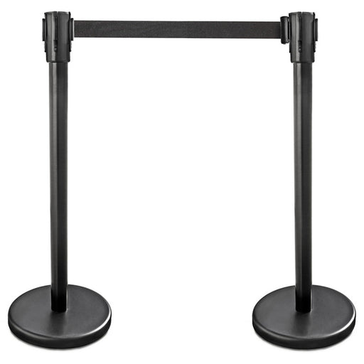 "BarConic® 36"" Stanchion with 6 1/2"" Retractable Belt - Set of 2"