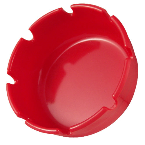 Ashtray - Red Plastic - 4 inch Diameter