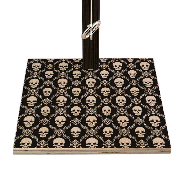Tabletop Ring Toss Game - Black Skull Pattern