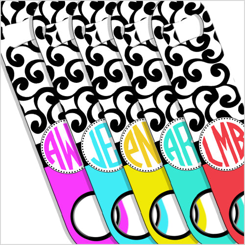 ADD YOUR NAME SPEED Bottle Opener – Monogram Swirls