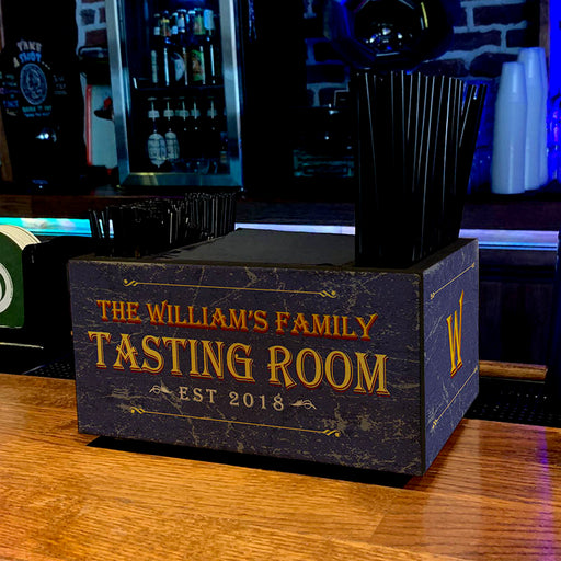 Customizable Wooden Bar Caddy - Tasting Room