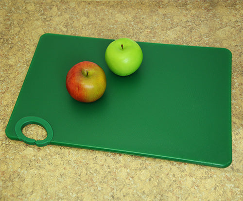 Colored cutting boards with ring