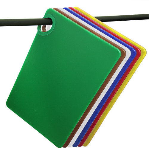 Colored cutting boards with ring hanging