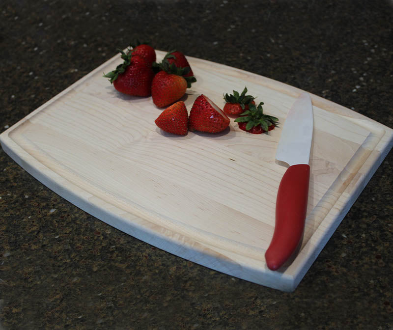 Cutting Board - Maple Wood - Arched