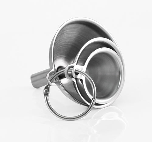 Stainless Steel Mini Funnels (Set of 3)