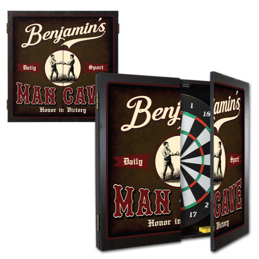 Customizable Man Cave Dart Board Cabinet