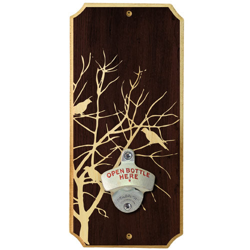 Dead Tree Birds - Wall Mounted Wood Plaque Bottle Opener