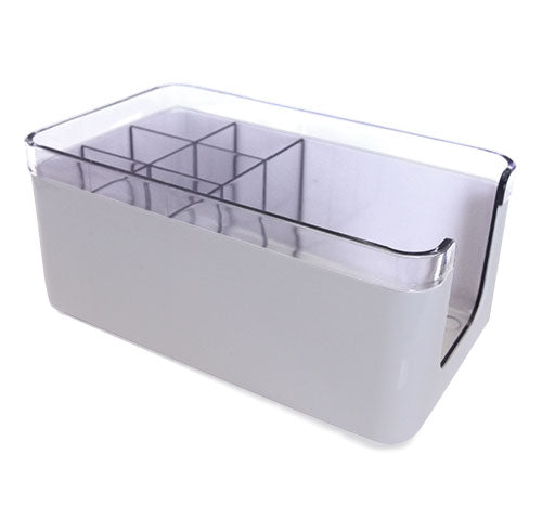 Deluxe 2 Piece Napkin Holders / Bar Caddy - White
