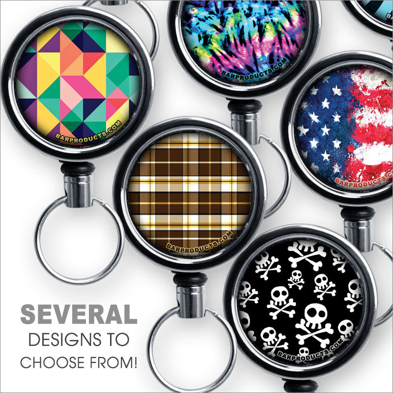 Retractable Reels for Bottle Openers – The Designer Series – Several Designs
