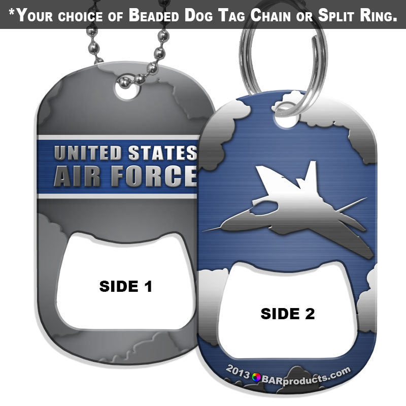 Dog Tag Bottle Opener - Military Line - Air Force