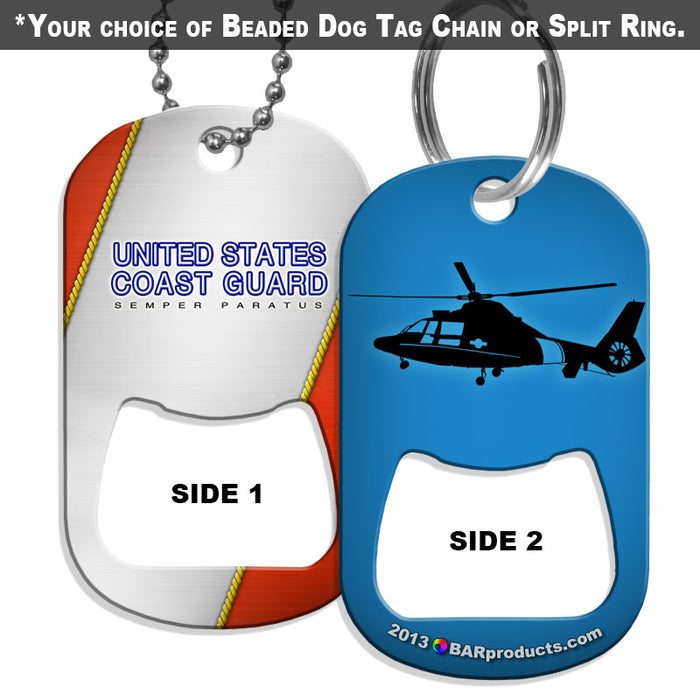 Dog Tag Bottle Opener - Military Line - Coast Guard