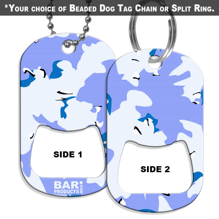 Dog Tag Opener - Light Blue CAMO