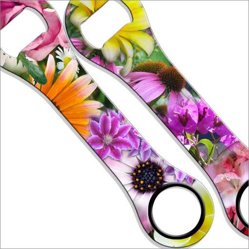 Dog Bone Bottle Opener / Bar Key - Flowers